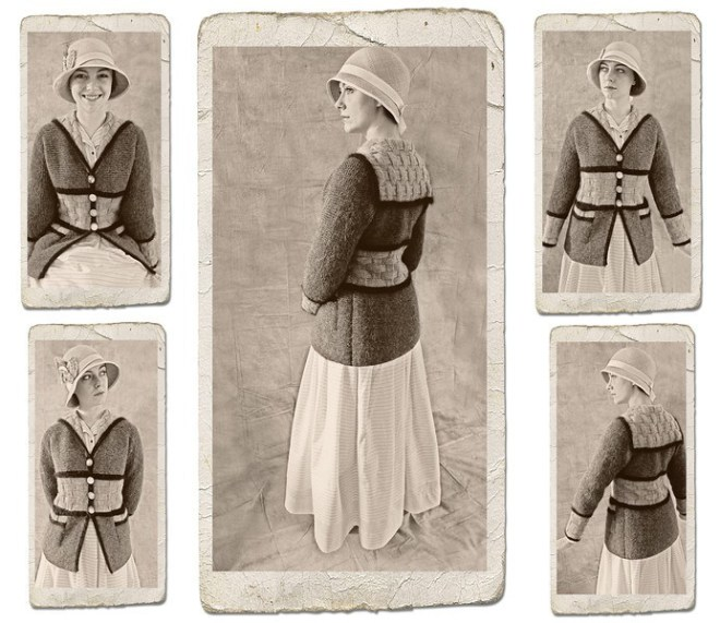 Cardigan Sheila Cunnea. Photo montage by  John Bennett