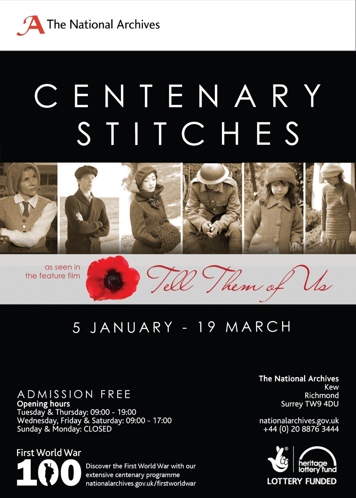 Centenary Stitches Poster
